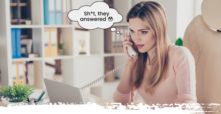 Woman Sales Call